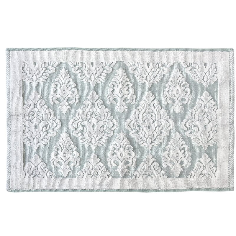 Croscill Juno Rectangle 100 Cotton Damask Bath Rug Wayfair