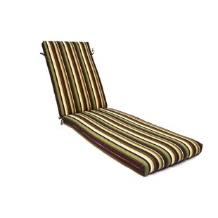 Wildon Home ® Stripe Indoor/Outdoor Chaise Lounge Cushion