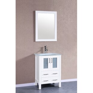 Nevitt 24 Single Bathroom Vanity Set with Mirror by Ebern Designs
