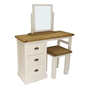 Cheap Price Mirabelle 3 Piece Dressing Table Set With Mirror Set