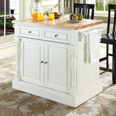 Haslingden 3 Piece Kitchen Island Set With Butcher Block Top B000582735 Tradewins Furniture