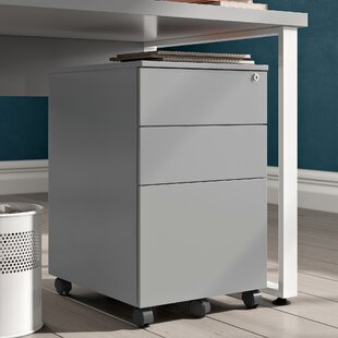 Carron Under Desk 3 Drawer Mobile Steel Pedestal Filing Cabinet By Hashtag Home