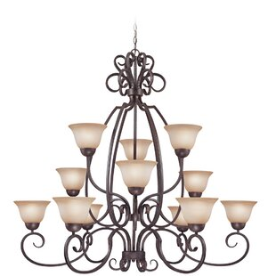 Fleur De Lis Living Donaldson 12 Light Shaded Chandelier