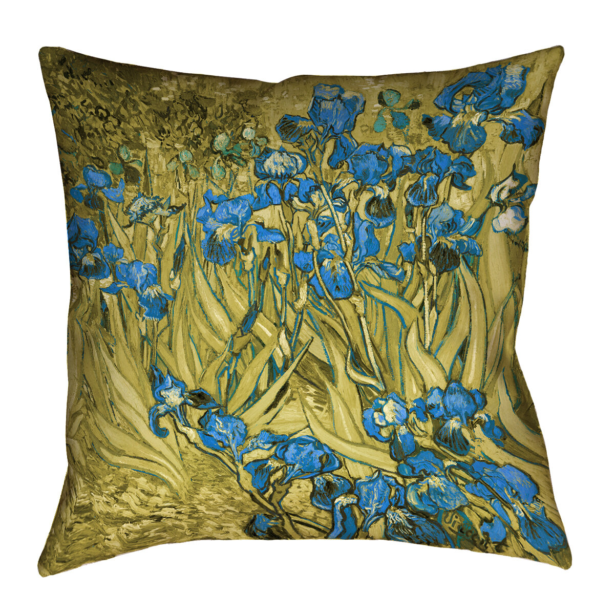 East Urban Home Mcguigan Gold Ombre Art Deco Pillow Cover Only Faux Suede Wayfair