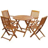 Spellman Outdoor 5 Piece Dining Set