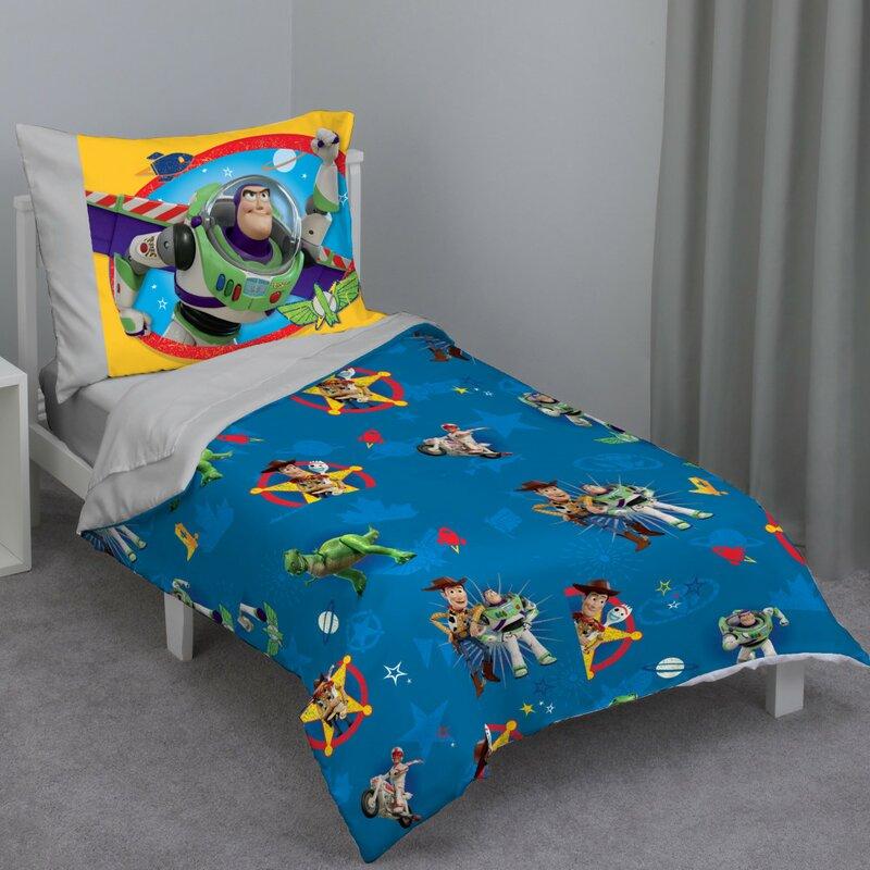 Disney Toy Story 4 Piece Toddler Bedding Set & Reviews ...