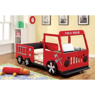 Find Fire Engine Twin Car Bed by Hokku Designs Reviews (2019) & Buyer's Guide