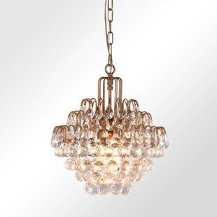 Mercer41 Kowalewski 3-Light Crystal Chandelier