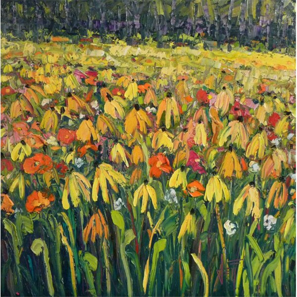 Hadleyhouseco Cone Flowers By Jeff Boutin Painting Print On Wrapped Canvas