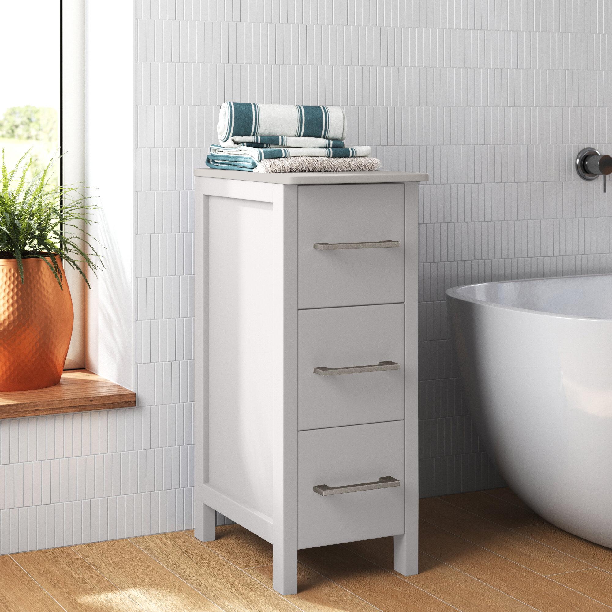 Solid Wood Bathroom Cabinets Shelving