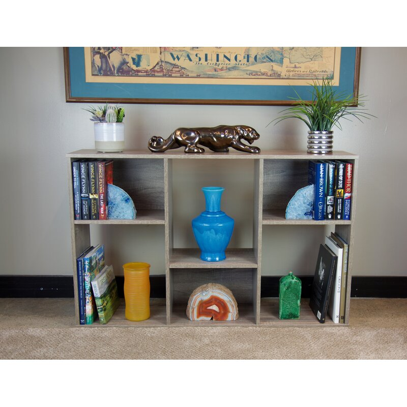 Ebern Designs Slide Logic 4 Tier Asymmetric Bookcase Console Wayfair