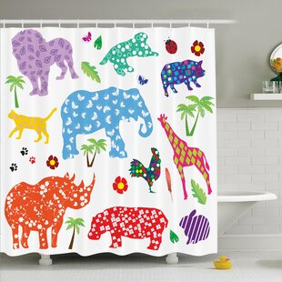 Virgil Wild Animals Single Shower Curtain