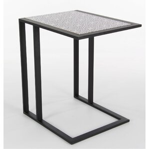 Colrain Metal Wood End Table by Bungalow Rose