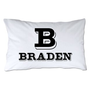 Personalized Block Initial & Name Pillowcase