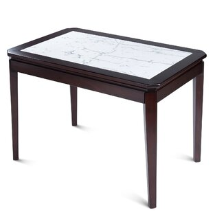 Ewald Marble Solid Wood Dining Table Winston Porter