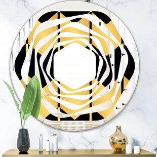 Luxury Metallic Geometrics V Whirl Modern  Contemporary Frameless Wall Mirror by East Urban Home