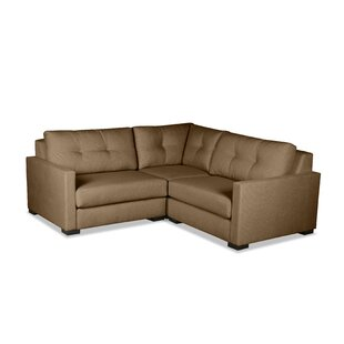 Secrest Buttoned L-Shape Mini Modular Sectional