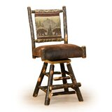 Mauldin Straight Back 24 Swivel Bar Stool by Millwood Pines