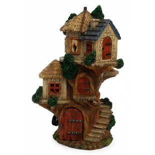 Marshall Home Garden Tree House Statue