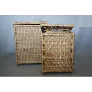 Low priced 2 Piece Wicker Laundry Set ByBayou Breeze
