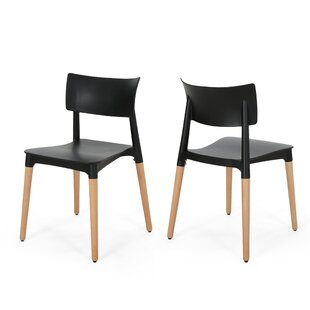 Bohrer Solid Wood Dining Chair (Set of 2)