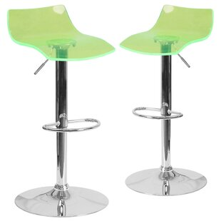 Orren Ellis Nolette Adjustable Height Swivel Bar Stool (Set of 2)