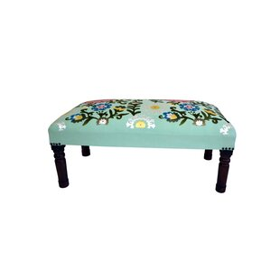 Wood and Upholstered Bench by Imports Decor