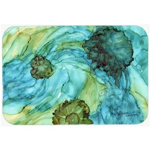 Abstract Flowers Kitchen/Bath Mat