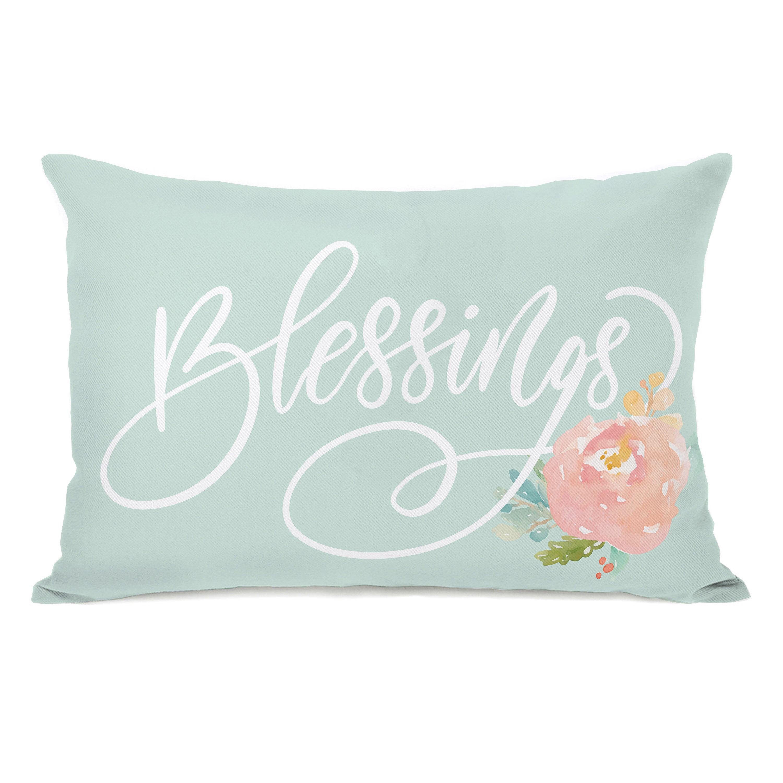 Ivy Bronx Naperon Blessings Lumbar Pillow Reviews Wayfair
