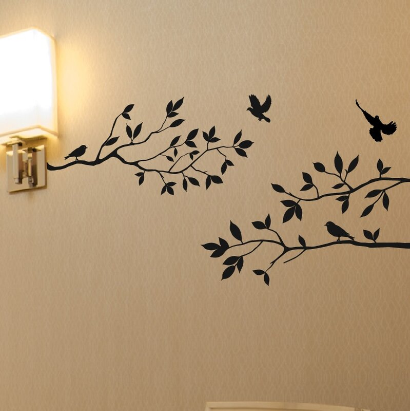 Tree Branches With Birds Wall Decal Part 76