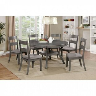 Duggan Transitional Round 5 Piece Solid Wood Dining Set