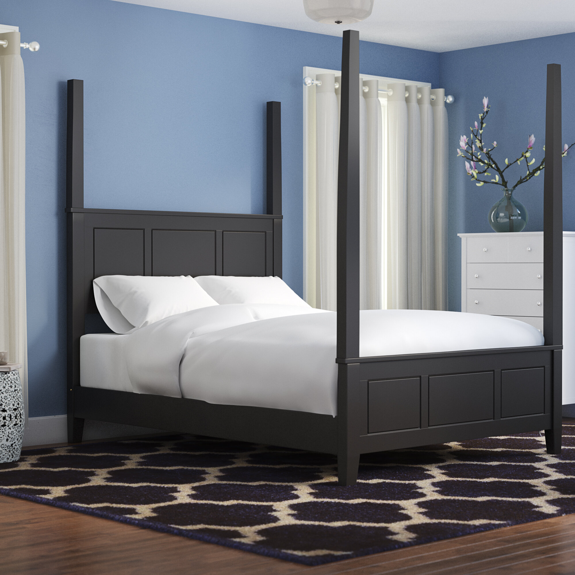 Alcott Hill Mckeel Four Poster Bed Reviews Wayfair