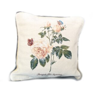 Golden Summer Rose Pillow Case (Set Of 2) by Tache Home Fashion No Copoun