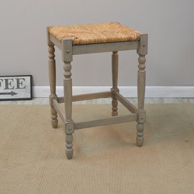 Groovy August Grove Emilia 24 Bar Stool Color Weathered Gray Ncnpc Chair Design For Home Ncnpcorg