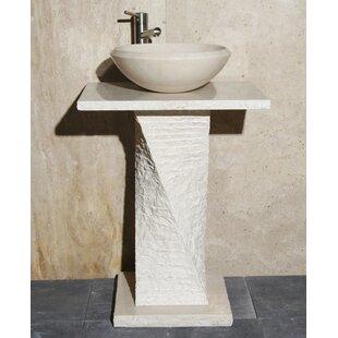 Guide to buy Stone 24 Pedestal Bathroom Sink ByAllstone Group