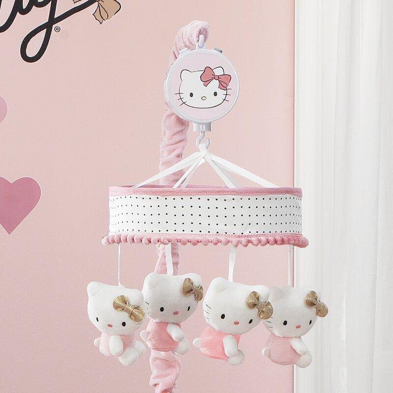 de8b3f16b Lambs & Ivy Hello Kitty Musical Mobile | Wayfair