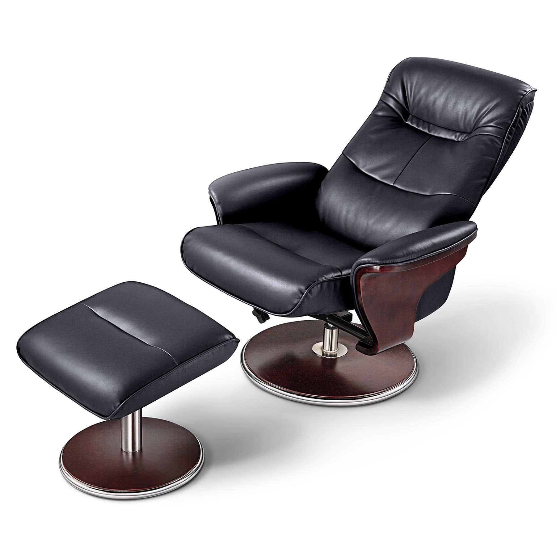 Brilliant Dirleton Manual Swivel Recliner With Ottoman Ncnpc Chair Design For Home Ncnpcorg