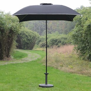 Hunstant Compact Portable Sun Shade Folding Beach 6' Square Market Umbrella by Freeport Park