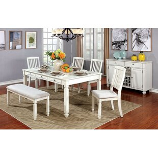 Rosecliff Heights Gage 6 Piece Breakfast Nook Dining Set