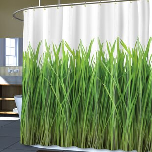 Castona Grass Print Vinyl Single Shower Curtain