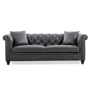 Aliceville Leather Chesterfield Sofa