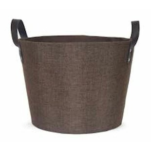 Basket With Leather Handles Wayfair Ca