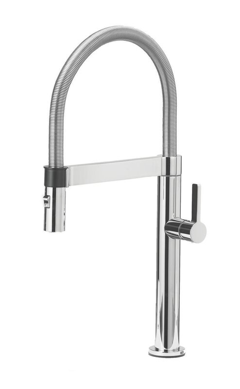 Culina Single Handle Deck Mounted Kitchen Faucet With Pull Down