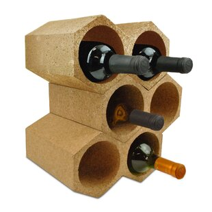 Tena Honeycomb Cork 6 Bottle Tabletop Wine Rack