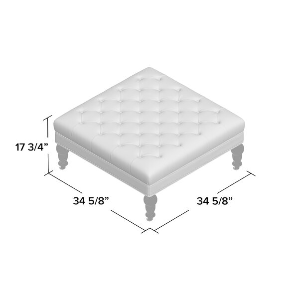 Kelly Clarkson Home Landis 34 6 Tufted Square Cocktail Ottoman Reviews Wayfair
