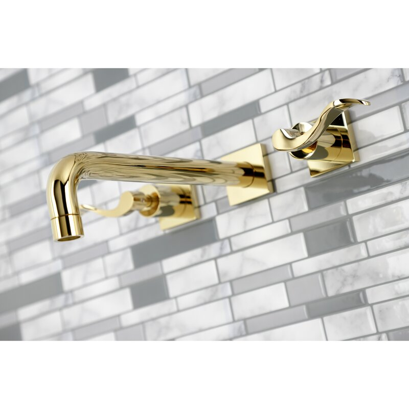 Kingston Brass Nuwave Double Handle Wall Mounted Roman Tub Faucet Wayfair
