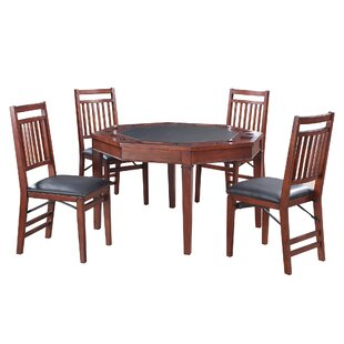 Best 4 Piece Broadway Poker Table Set By Hathaway Games