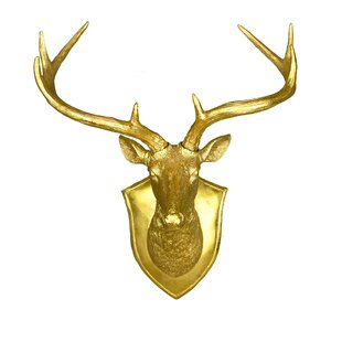 Faux Deer Head Wall Décor