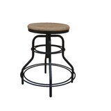 Pratt Revolving Adjustable Height Bar Stool by 17 Stories