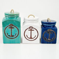 Coastal Kitchen Canisters Jars Free Shipping Over 35 Wayfair